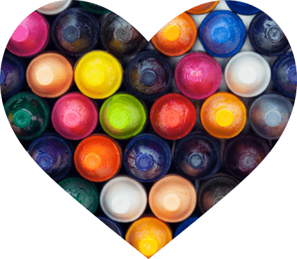 heart shape crayons